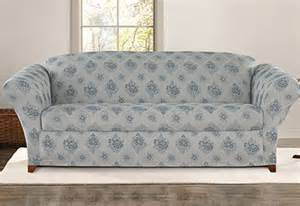 Floral Sofa Slipcover Sure Fit Stretch Vintage Floral Separate Seat Slipcovers