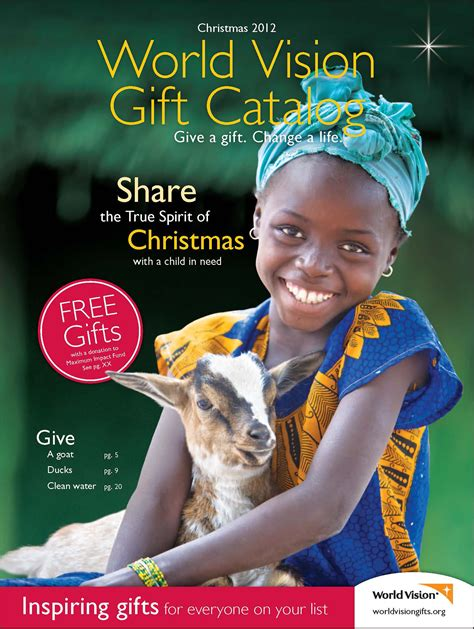 give and receive with the world vision gift catalog