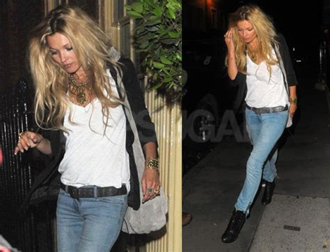 Kate Moss Arrives Home To Continue 34 Hour Marathon Birthday by Pictures Of Kate Moss Out In With Big Hair