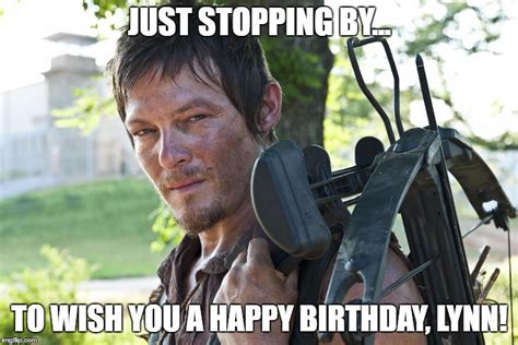 Walking Dead Birthday Meme - dixon walking dead crossbow imgflip