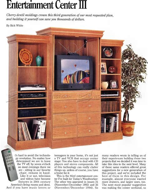 free woodworking plans entertainment center entertainment center plans woodarchivist