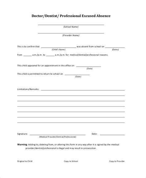 Doctor Note Template For School doctors note template for school 6 free word pdf