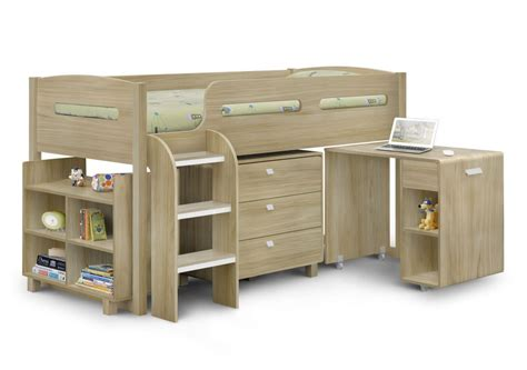 3 Sleeper Bunk Beds With Storage by Happy Beds Kimbo Mid Sleeper 3ft Oak Cabin Bed Storage Drawers Mattresses Ebay