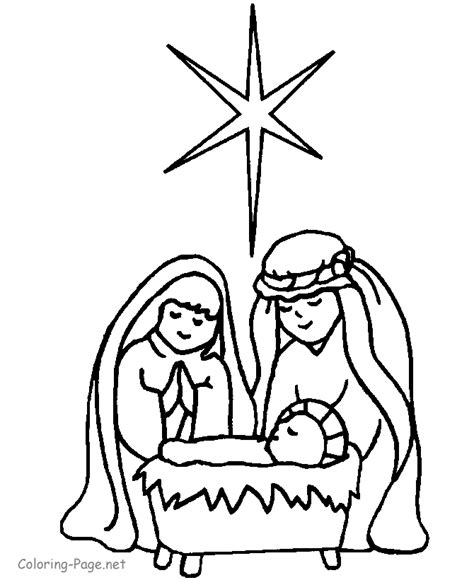 Bible Coloring Pages Nativity | manger scene coloring pages az coloring pages