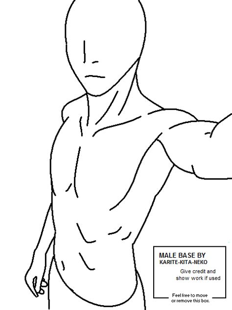 male body base coloring pages
