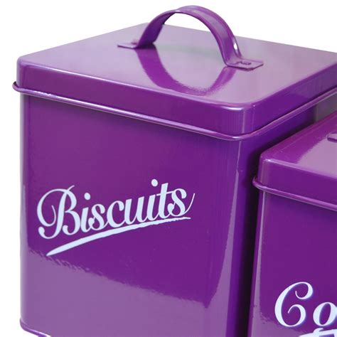 set tea coffee sugar and biscuit canisters pink kitchen 5 piece canister set purple bread bin sugar coffee tea