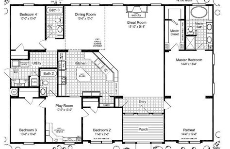 5 bedroom modular homes floor plans wide