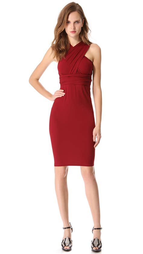 Dress Hodie New York donna karan new york infinity dress in pomegranate lyst