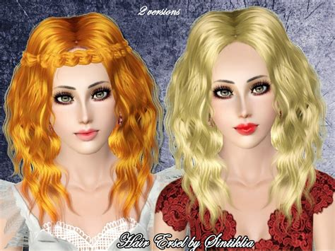 download wavy hair for sims 3 wavy middle part hairstyle ersel by sintiklia sims 3 hairs