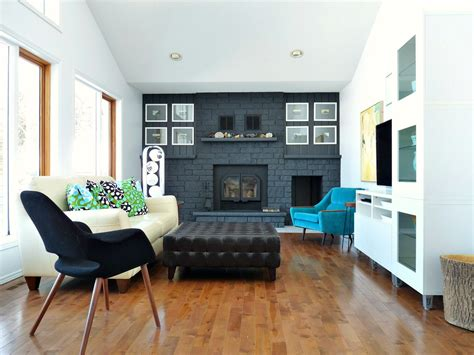 focal wall remodelaholic dark gray painted fireplace focal wall