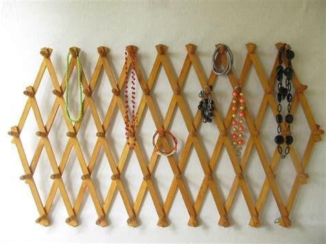 Expandable Peg Rack by Vintage Accordion Rack Wood Peg Rack Expandable Peg By