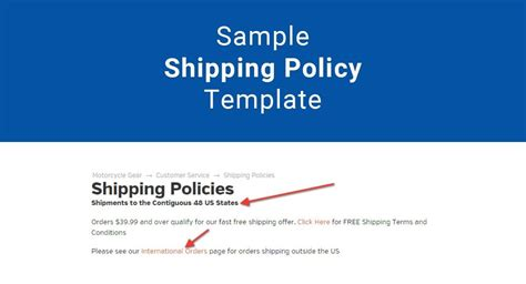 shipping policy template sle shipping policy template termsfeed