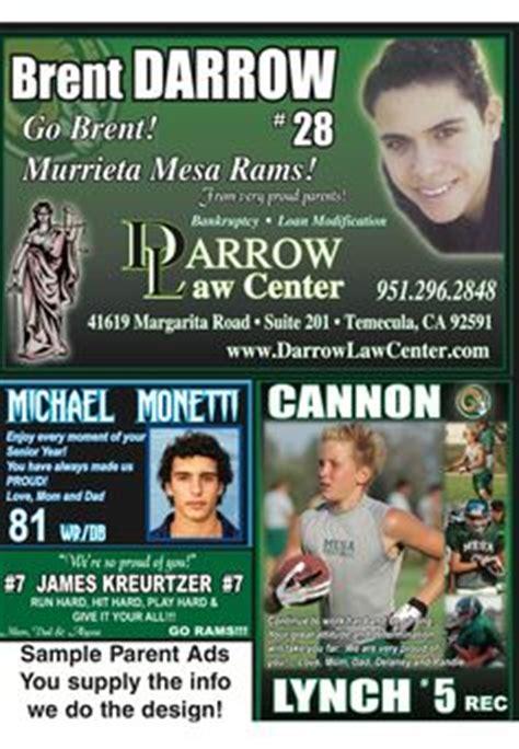 high school football program template football program parent ads exles search