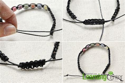 how to end a beaded bracelet how to make a simple friendship bracelet with letters step