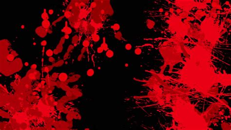 red blood  black background stock footage video