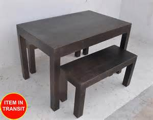 Bench Dining Table Set Australia Solid 120x75cm Bench Seats Setting Dining Table Set Dark