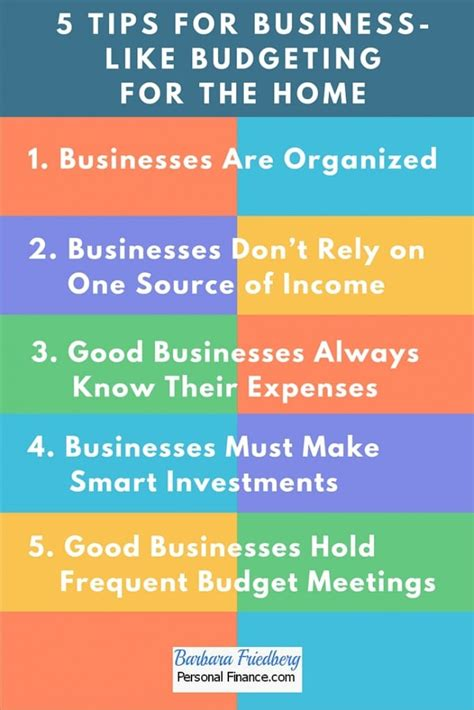 7 Tips For Budgeting Your Finances by 5 Tips For Business Like Budgeting For The Home