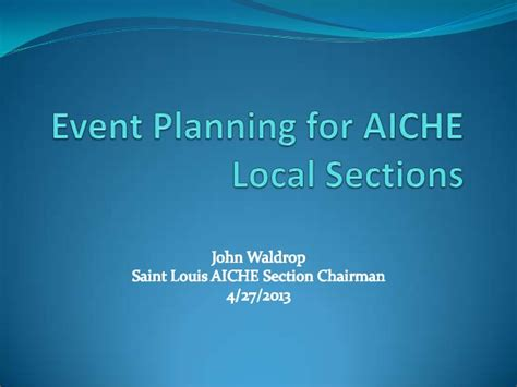 acs local sections event planning for local sections