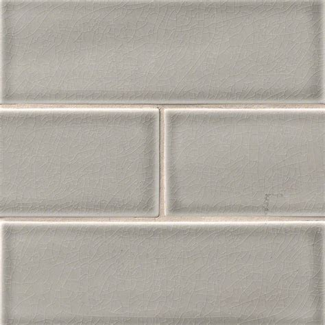 Handcrafted Tiles - buy dove gray 4x12 glazed handcrafted subway tile