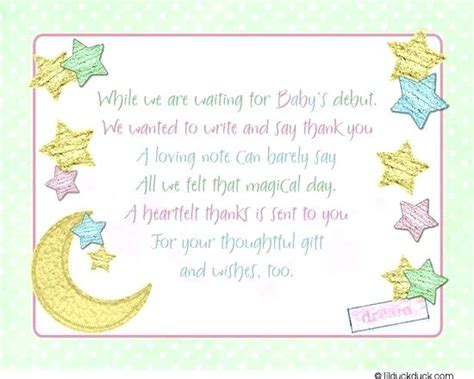Baby Shower Notepads by Baby Shower Thank You Note Baby Shower Thank You Notes