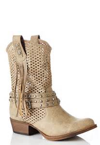 cato boots perforated western boots boots cato fashions