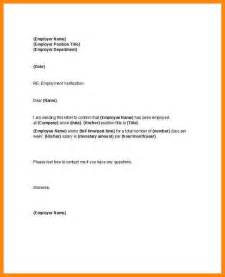 Proof Of Employment Letterhead 5 Verification Of Employment Letter Resumed