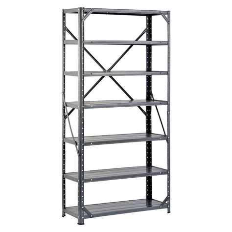 Home Depot Shelving Garage by Edsal 60 In H X 30 In W X 12 In D Steel Canning