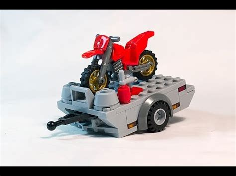 lego motorcycle tutorial tutorial how to build lego dirt bike trailer moc youtube