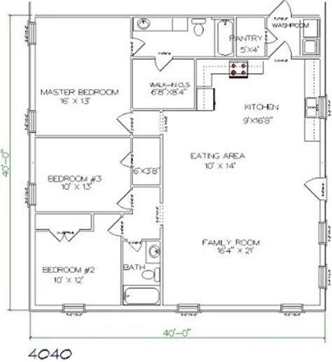 Small One Bedroom Apartment 96 best barndominium floor plans images on pinterest