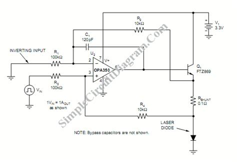 high current laser diode driver circuit laser diode driver simple circuit diagram