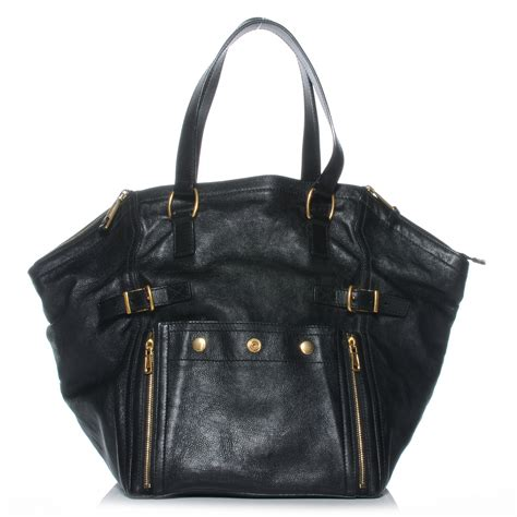 Richardss Yves Laurent Downtown Tote by Ysl Yves Laurent Leather Large Downtown Tote Black 42630