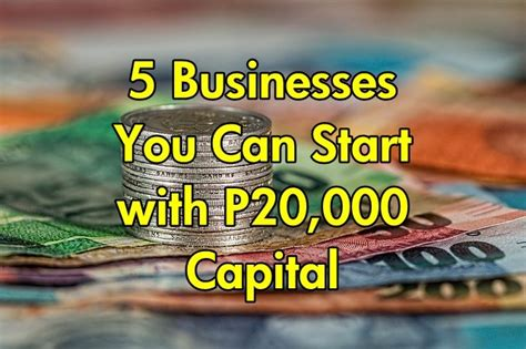 Home Business Ideas Lebanon 5 Businesses You Can Start With P20 000 Capital Business