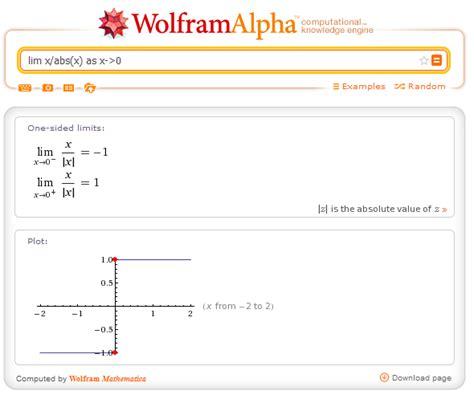 infinity wolfram alpha como hallar limites de funciones con procedimiento