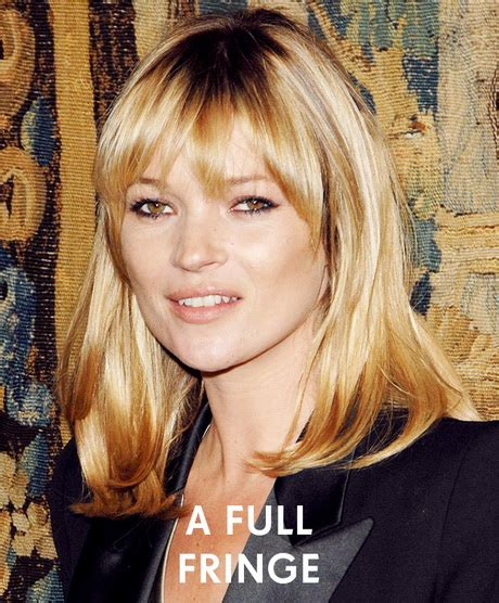 Kate Moss Cuts Bangs Em Or Em by Medium Length Hairstyles With Fringe