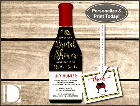Wine Bottle Invitation Template Free