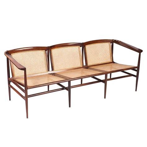 brazilian furniture brazilian modern rosewood and cane sofa by joaquim
