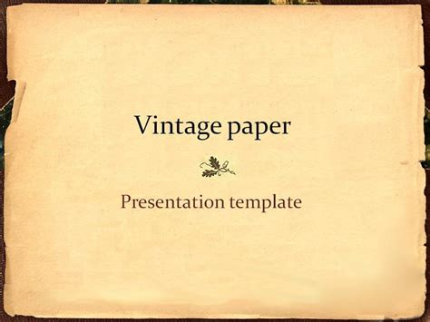 templates for paper presentation vintage paper presentation template by lightpixel