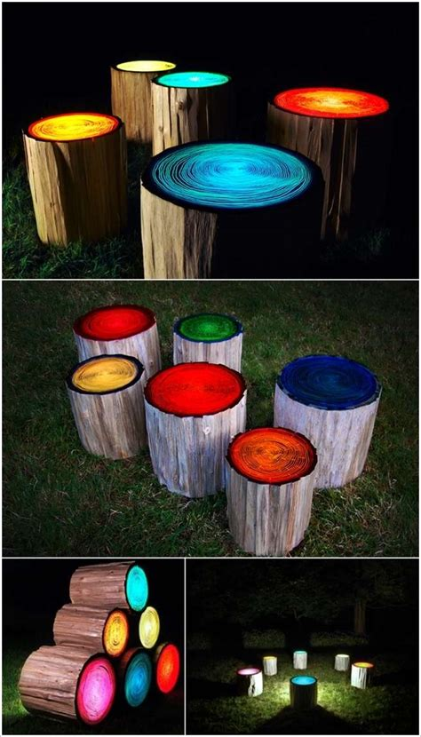 glow in the painted logs 5 cool paint projects that you can try to decorate your home