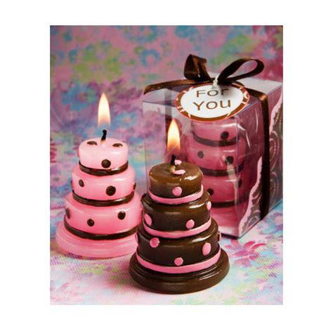 candela a forma di torta bomboniera candela a forma di torta rosa nascita battesimo