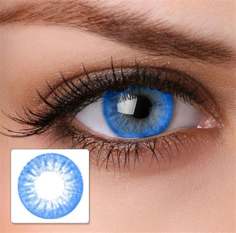 buy color contacts colour contact lenses ha16 electric blue buy
