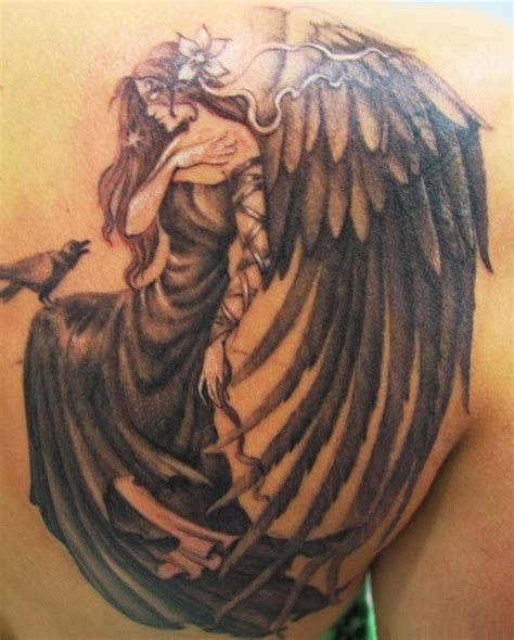 angel shoulder tattoos for men ideas for s on guardian