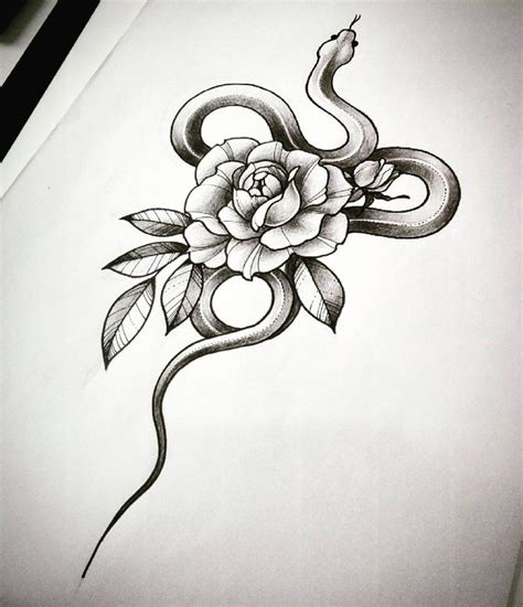 snake tattoo with roses best 25 snake ideas on