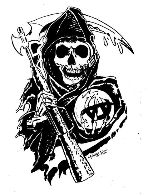 sons of anarchy reaper by michellie001 on deviantart