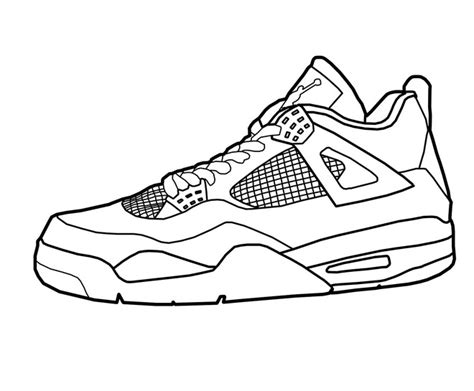 printable coloring pages nike shoes printable basketball shoes coloring page