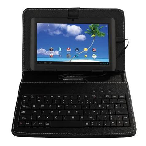 android tablet with keyboard proscan plt7223g k 7 quot android 4gb tablet with keyboard and android 4 1 microsd