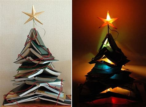 15 christmas trees out of books home design garden