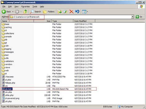 yii tutorial database image tutorial how to setup yii framework on wamp using