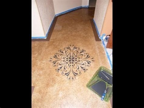 DIY: Paint with Concrete Stain= budget friendly  beautiful