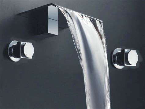 contemporary bathtub faucets new two hole waterfall basin faucet 8824a chrome finish modern bathroom faucets