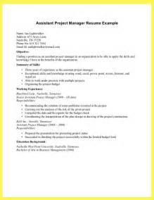 Assistant Manager Resume Examples Assistant Project Manager Resume Best Resume Sample